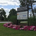 GlobalFoundries put its name and logo on the signboard marking the Hudson Valley Research park earlier this year.