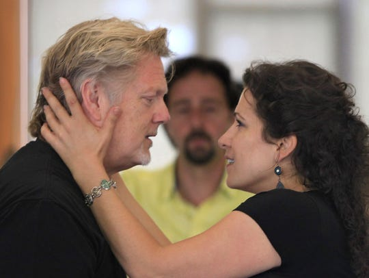 Gregory Kunde as Don José, left, and Danielle Pastin