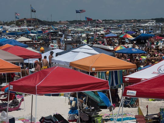 Scenes from Quietwater Beach during the Blue Angels air show at Pensacola Beach on Saturday July 8, 2017.