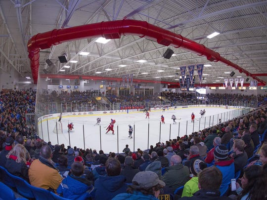 USA Hockey Arena rocked from start to finish as a near-capacity crowd watched Saturday's Five Nations tourney finale between Team USA and Russia.