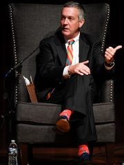 Tennessee Secretary of State Tre Hargett addresses the audience at Lipscomb University on Aug. 27.