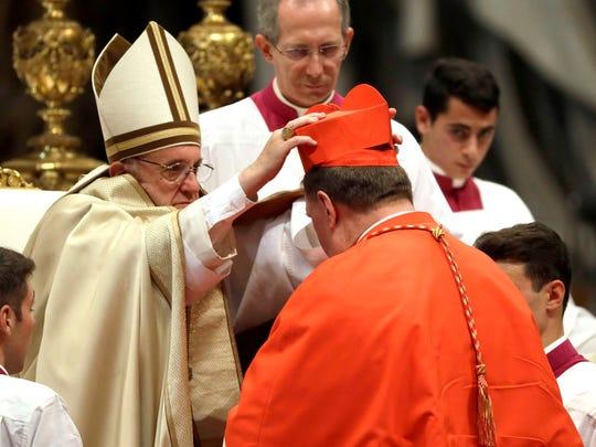 New Cardinal Joseph William Tobin, Archbishop of Indianapolis,