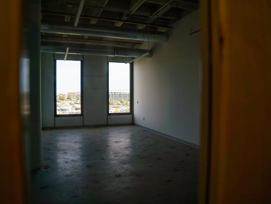 An empty studio at the renovated Mainframe studios