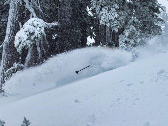 Fresh snow at Mount Bachelor Ski Area.