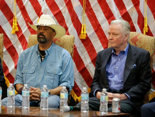 Milwaukee County Sheriff David A. Clarke Jr. and actor