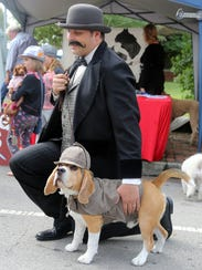 Jeff Altman and his dog Leo joined the Pup Parade at