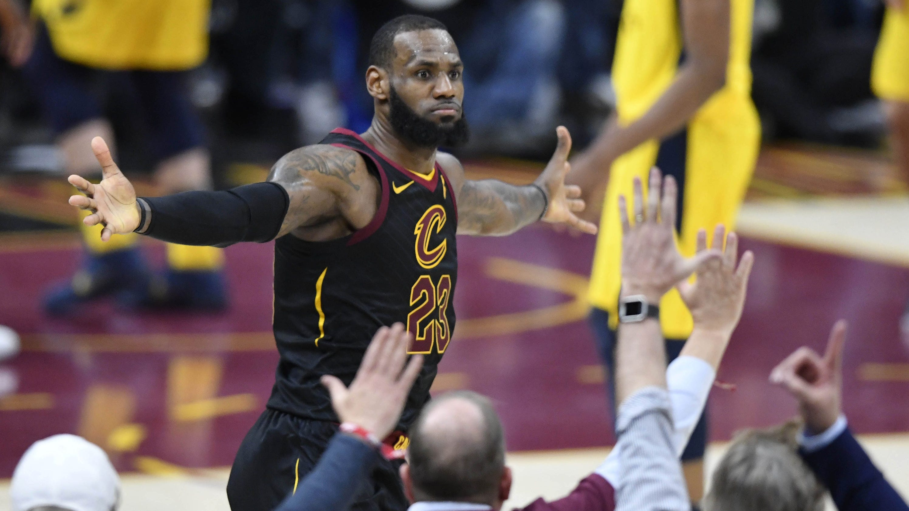 cleveland fans going nuts lebron