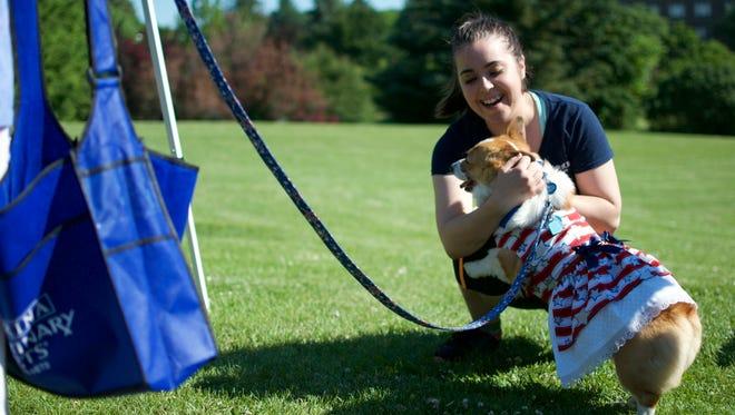 Esmeralda, a 3-year-old Pembroke Welsh Corgi, made many new friends at Highland Park Saturday.