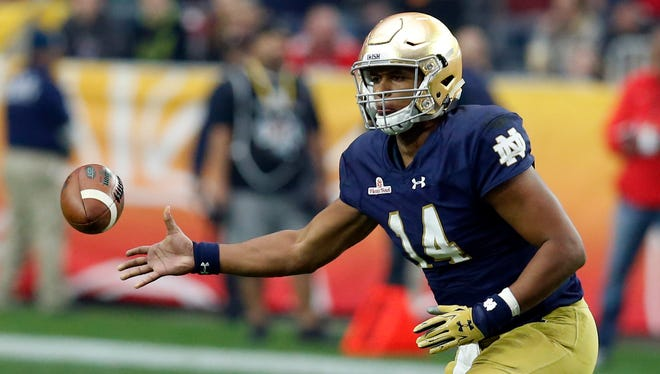 Sept. 17 at Notre Dame. These old rivals haven't played since 2013. The Irish figure to be highly rated, as always, but they might have a quarterback controversy between Malik Zaire and DeShone Kizer. This game comes after a Week 2 bye for MSU and will kick off at 7:30 p.m.