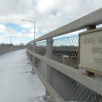The 1st Avenue North Bridge is named for George Shanley, as this plaque shows.