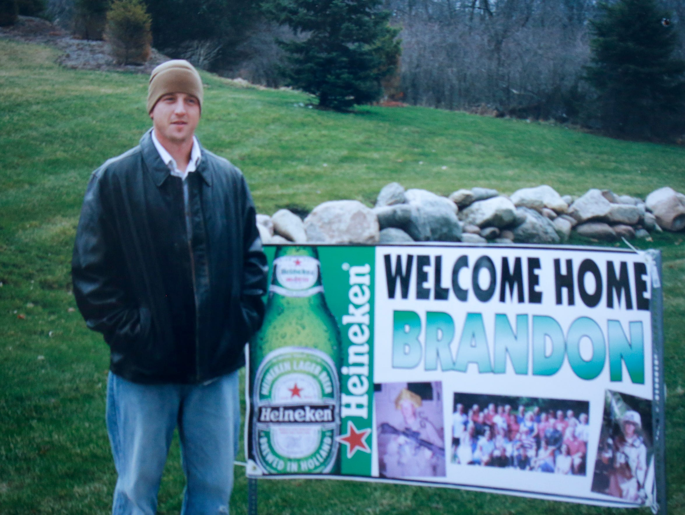 A photo of Sgt. Brandon Ketchum in Des Moines after