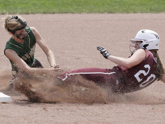 Lebanon's Madison DeGennaro steals second in the fourth inning.