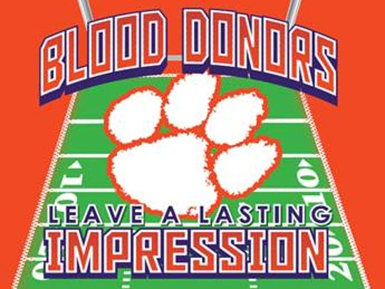 Clemson blood donor T-shirt.