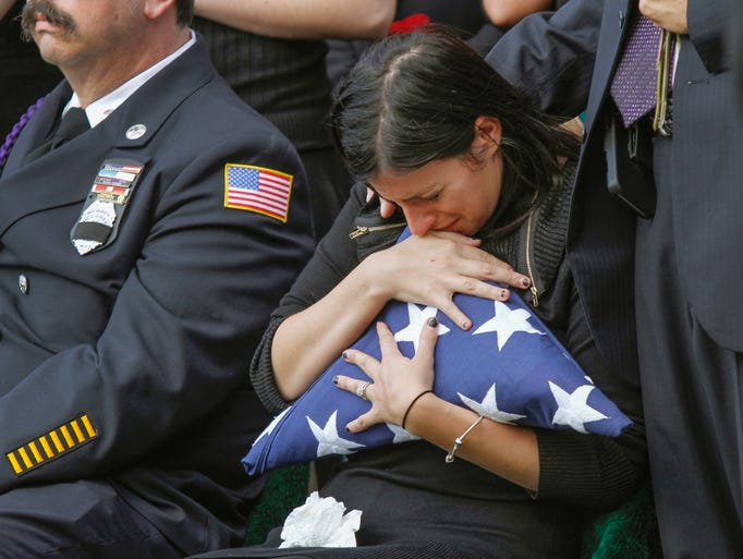 Christine Morrison, wife of U. S. Army Sgt. James Morrison,