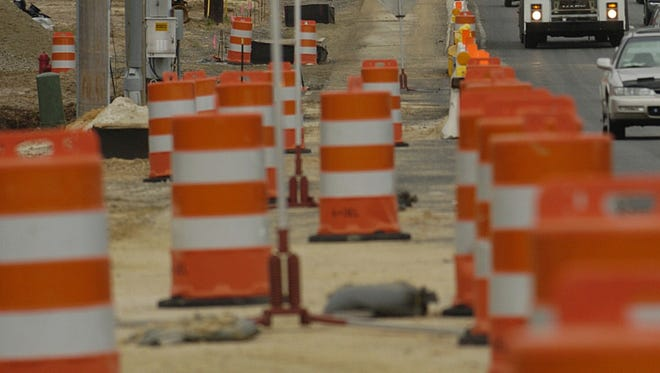 Work on the Del. 1/Del. 30 overpass will mean overnight lsane closures in early December.