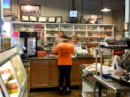 The Olivesburg General Store has a flow of customers