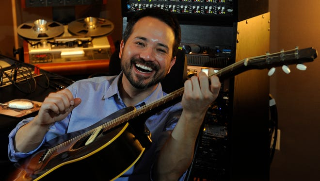 """Dave Brainard, who produced the album """"12 Stories"""" by Brandy Clark, works in his studio Friday, Jan. 9, 2015, in Nashville."""