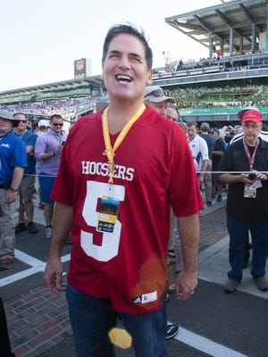 Mark Cuban before the start of the Indianapolis 500 Sunday, May 25, 2014 at the Indianapolis Motor Speedway.