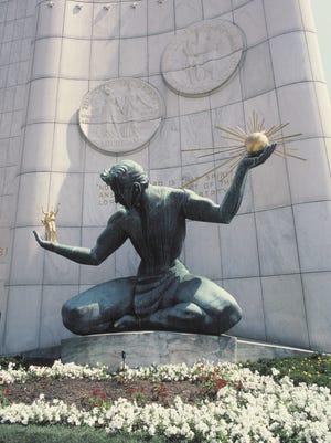 Spirit of Detroit Sculpture , Detroit , Michigan