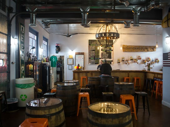 The bar area at Liquid Alchemy Beverages near Elsmere, off Maryland Avenue.