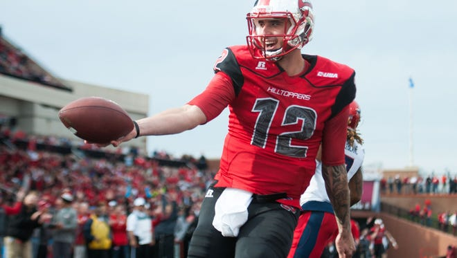 Western Kentucky quarterback Brandon Doughty could pose a big challenge for Southern Miss in Saturday's Conference USA championship.