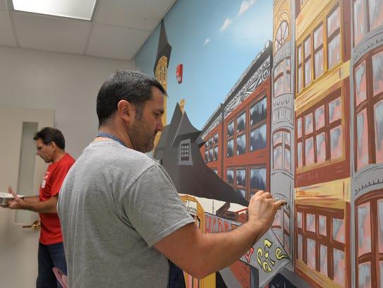 More than 100 volunteers from Wells Fargo spent Saturday