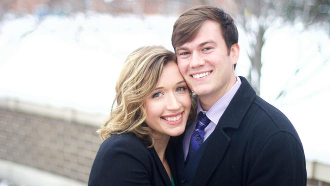 Gillian Lynn Cotter and John Riesen are performers for the Shreveport Opera, which is where they met and began dating.