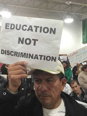 Local residents protest during East Ramapo school board meeting in November. Local residents protest during a 2014 East Ramapo school board meeting.