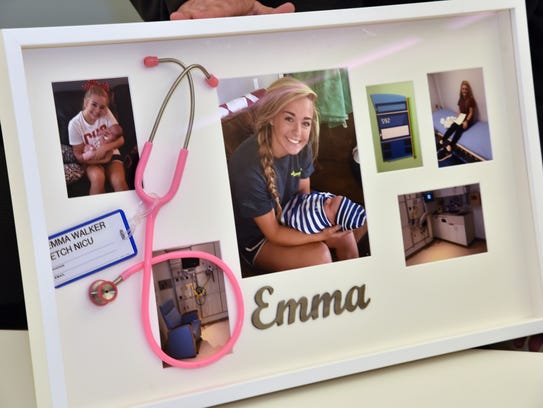 A memory board of Emma Walker put together by her parents