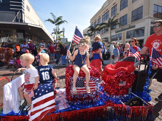 Kids also get their own parade, presided over by the