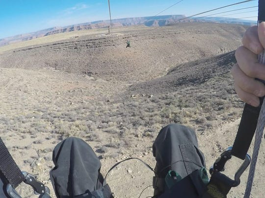 The view from the new zipline at Grand Canyon West.