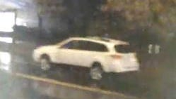 Surveillance camera image of 2013-2014 Subaru Outback suspected of hitting boy in Madison on Nov. 19, 2015.