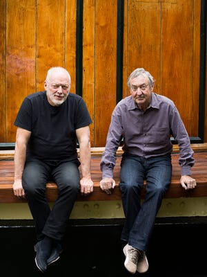 David Gilmour, left, and Nick Mason of Pink Floyd in 2014.