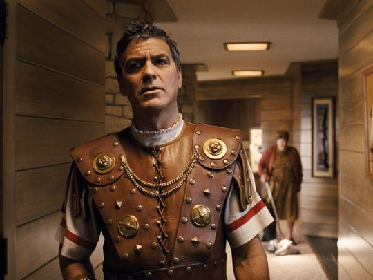 "In this image released by Universal Pictures, George Clooney portrays Baird Whitlock in ""Hail, Caesar!."" (Universal Pictures via AP)"