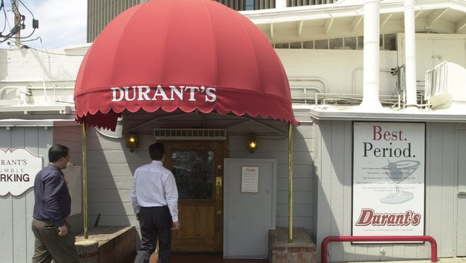 DURANT'S: A snapshot of the 1950s in Phoenix, Durant's remains primarily a steakhouse where regulars enter through the back door into the kitchen and business leaders and politicians still make deals.