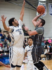 Penn State York's Billy Vaughn-Geib takes a shot at