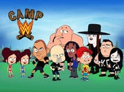 """Pro wrestlers such as the Bella twins, The Rock, """"Stone Cold"""" Steve Austin, Big Show, R-Truth, John Cena, the Undertaker, Kevin Owens and Paige are all reimagined as 8-year-old campers in """"Camp WWE."""""""
