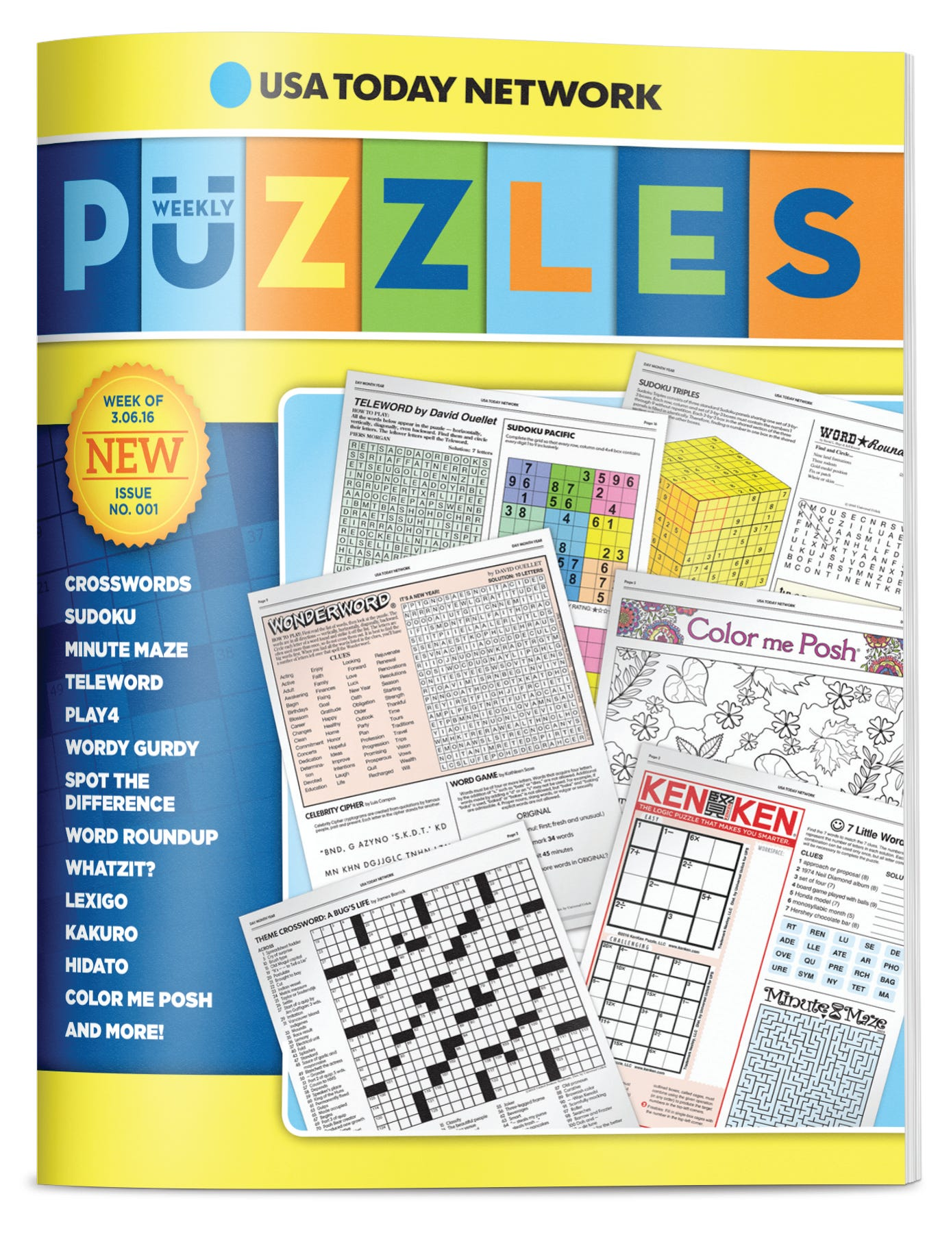 graphic relating to Usa Today Crossword Printable named Consider Weekly Puzzles provided in the direction of your house