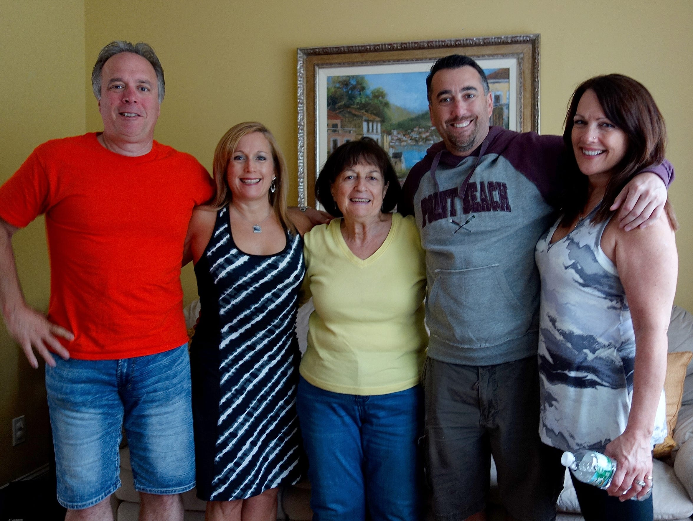 Dr. Teresa Sievers, second from left, at a family reunion