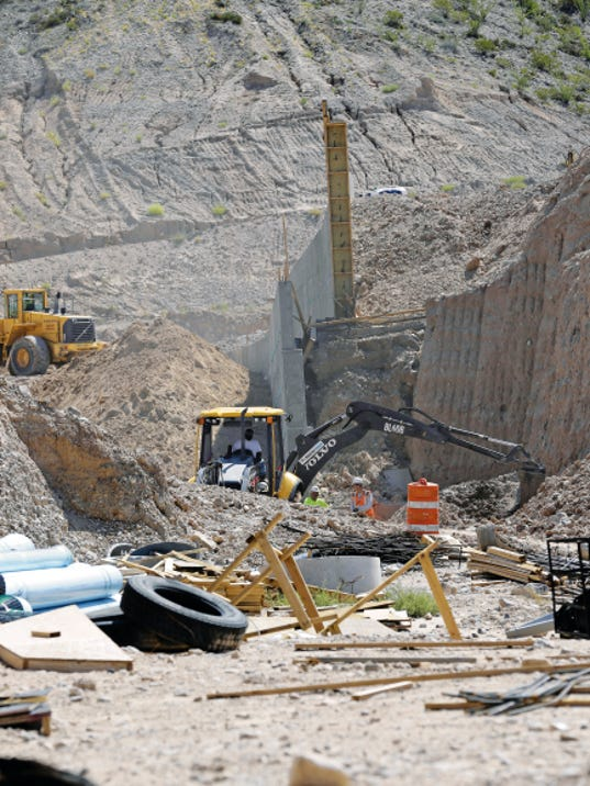 Construction has begun on the Alamo Drafthouse Cinema, which sits on the vacant land site east of the Montecillo development in West El Paso. On Friday, some of the retaining walls were going up at the site.