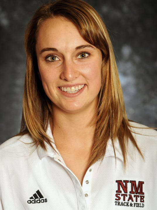 08/26/2014: NMSU track and cross country member Kayli Farmer (Photo by Darren Phillips)