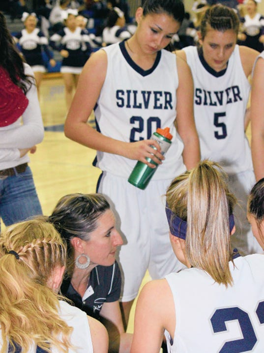 Danny Udero/Sun-News   Silver High head girls basketball coach Julie Gutierrez was released and the Lady Colts are seeking a new replacement.