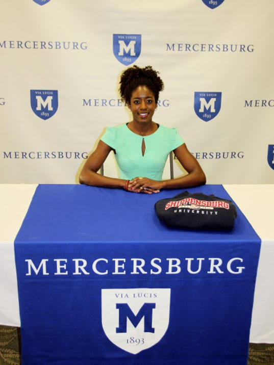 Loganville's Tatiana Purnell recently signed her National Letter of Intent to compete for the Shippensburg University track and field program.