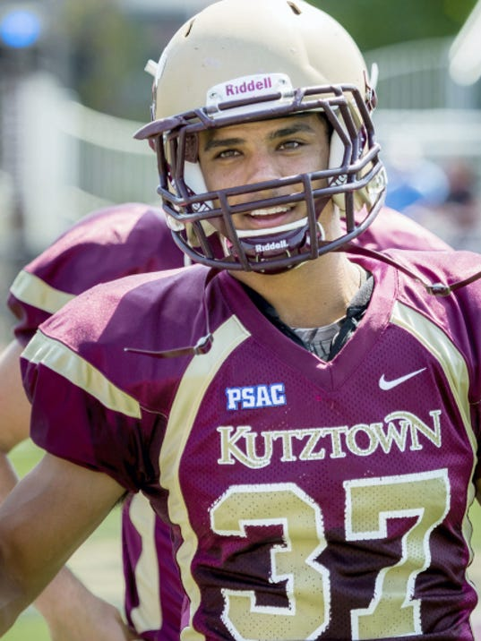 Delone Catholic graduate Kodi Reed recently set the Kutztown record for career receiving yards with 2,123.