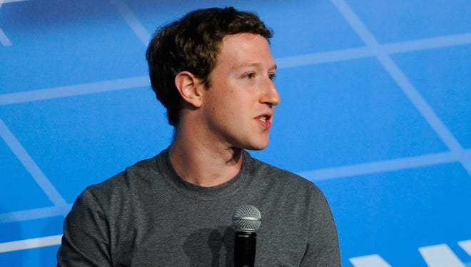 Facebook CEO Mark Zuckerberg is being sued by a real estate developer. Here he speaks during his keynote conference as part of the  Mobile World Congress 2014 in Barcelona, Spain.