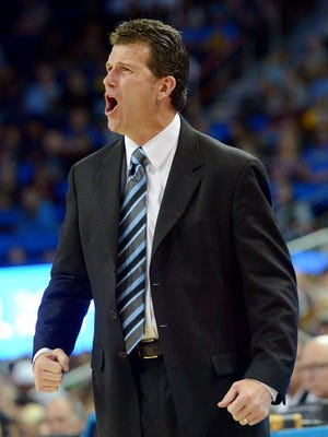 UCLA Bruins head coach Steve Alford in the second half of the game against the Washington State Cougars at Pauley Pavilion.