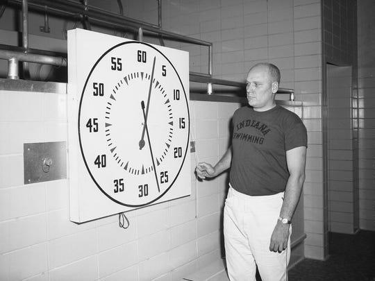 Former IU swim coach Doc Counsilman.
