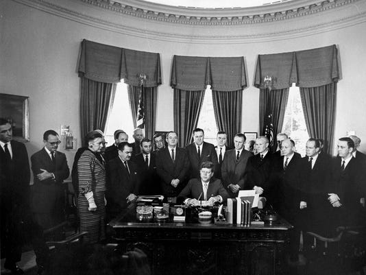 Kennedy Peace Corps Signing
