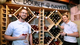 Landon Carus (left) and Daniel Ratzburg are partners in Double Daylo Winery in Wauwatosa. At this time, it's purely a hobby for them.