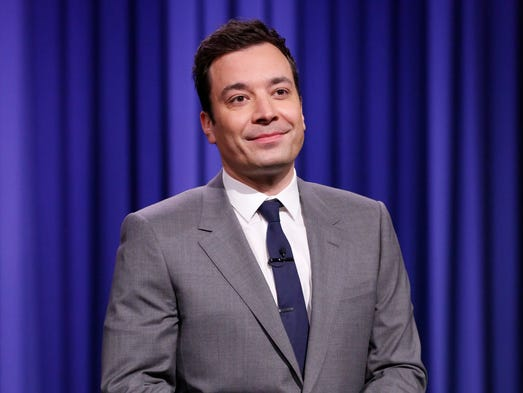 "Jimmy Fallon is just the sixth host in the history of NBC's ""Tonight Show."" He took over the desk on Feb. 17."